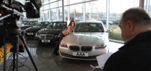 Natáčení pro AAA Auto s Alicí Bendovou