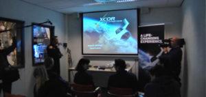 Natáčení videa na simulátoru XCOR v Nizozemsku pro Geometry Global